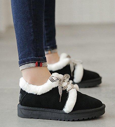 Mao black neve da studente caldi cotone MEILI selvatici velluto più scarpe scarponi Fan scarpe donna da donna da Scarpe in da pizzi da pane stivali wfF8PxnfqS