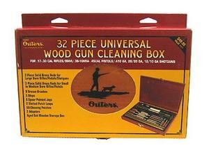 Outers 32 - Piece Universal Gun Wood Cleaning Box (.17 Caliber and ()