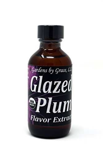 Organic Flavor Extract Plum | Use in Gourmet Snacks, Candy, Baking, Beverages, Ice Cream, Frosting, Syrup and More | GMO-Free, Vegan, Gluten-Free, 2 oz