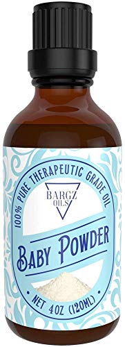 Baby Powder Essential Oil [RELAXING SCENT] - Glass Amber Bottle Organic Pure Therapeutic French for Diffuser, Aromatherapy, Headache, Pain, Sleep-Perfect For Candles & Massage (4 oz)
