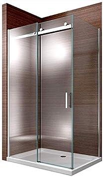 Cabina de ducha Nano 8 mm Cristal ex806 Puerta corrediza – 90 x ...