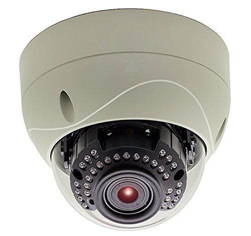 KT&C KNC-VNi120HD 2.1MP IP Vandal Proof IR Dome Camera, 3.5mm-16mm Megapixel Auto-Iris Lens, Removable IR-Cut Filter for D/N, 30LEDs, PoE, DC12V, (16 Auto Iris Lens)