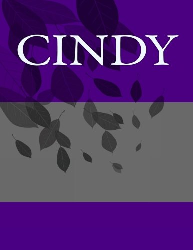 Download Cindy: Personalized Journals - Write In Books - Blank Books You Can Write In ebook