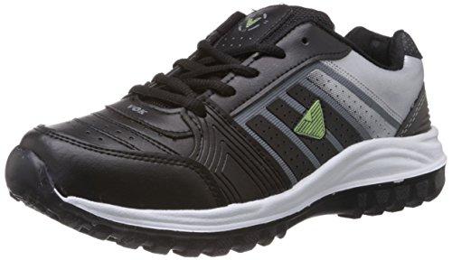 Vokstar Men's Black and Grey Running Shoes - 9 UK (V-209)