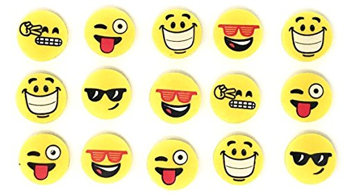 Sea View Treasures 144 Bulk Happy Smile Emoji Eraser -
