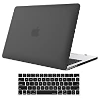 """Funda ProCase para MacBook Pro 15 2018 2017 2016 Versión A1990 /A1707, cubierta de carcasa rígida y cubierta de teclado para Apple MacBook Pro 15 """"(2018/2017/2016) con barra táctil y ID táctil - Negro"""
