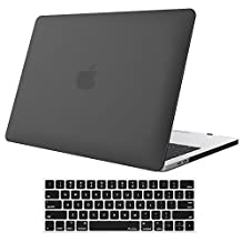 MacBook Pro 13 Case 2017 & 2016 Release A1706/A1708, ProCase Rubberized Hard Case Shell Cover and Keyboard Skin Cover for Apple Macbook Pro 13 Inch with/without Touch Bar and Touch ID -Black