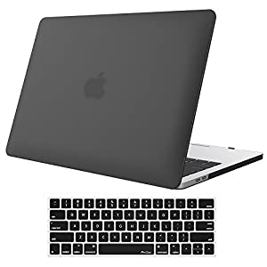 MacBook Pro 13 Case 2017 & 2016 Release A1706/A1708, ProCase Hard Case Shell Cover and Keyboard Skin Cover for Apple Macbook Pro 13 Inch with/without Touch Bar and Touch ID –Black