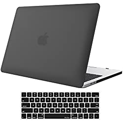 "MacBook Pro 15 Case 2017 & 2016 A1707, ProCase Hard Case Shell Cover and Keyboard Cover for Apple Macbook Pro 15"" (Newest 2017 & 2016 Release) with Touch Bar and Touch ID -Black"