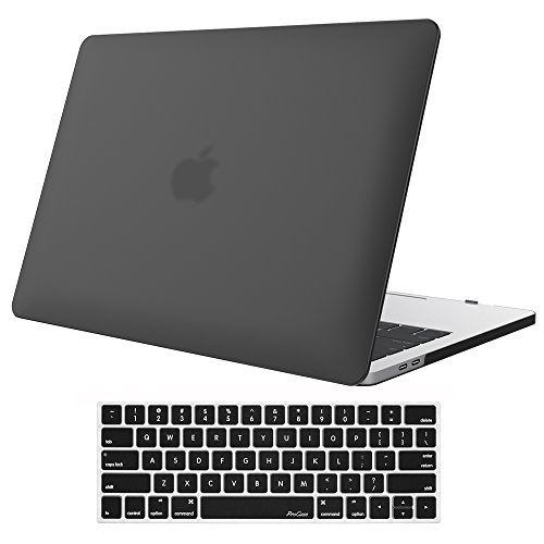 """MacBook Pro 15 Case 2017 & 2016 A1707, ProCase Hard Case Shell Cover and Keyboard Cover for Apple Macbook Pro 15"""" (Newest 2017 & 2016 Release) with Touch Bar and Touch ID -Black"""