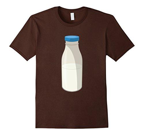 Milk Bottle Halloween Costume (Mens Funny Milk Halloween Costume T-Shirt Matching Couple Gift 2XL Brown)