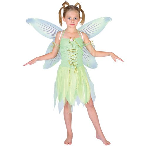 Tinkerbell Outfit (Tinkerbell Neverland Fairy Girls Fancy Dress Costume M)