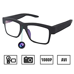 ISCREM Camera Glasses 1080P Outdoor Mini HD Video Glasses Portable Wearable Eye Glasses with Camera for Outdoor Sports Driving,Riding,Fishing,Motorcycle