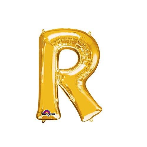 Regina 106486.0, Balão Metalizado Super Shape Letra R Pack, Dourado