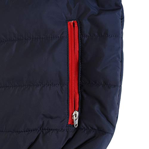 Nike Kids Boy's Quilted Jacket (Little Kids) Obsidian/University Red 4 US Little Kid by Nike (Image #5)