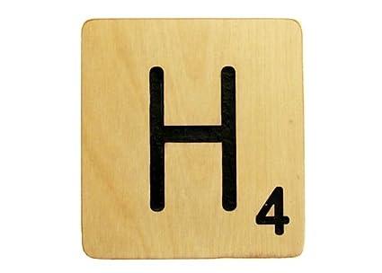 Amazon.com: Large 5 Inch Scrabble Tile - H: Home & Kitchen