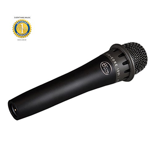 Blue Microphones enCORE 100i Dynamic Instrument Microphone with 1 Year EverythingMusic Extended Warranty (Phantom Powered Dynamic Cardioid Microphone)