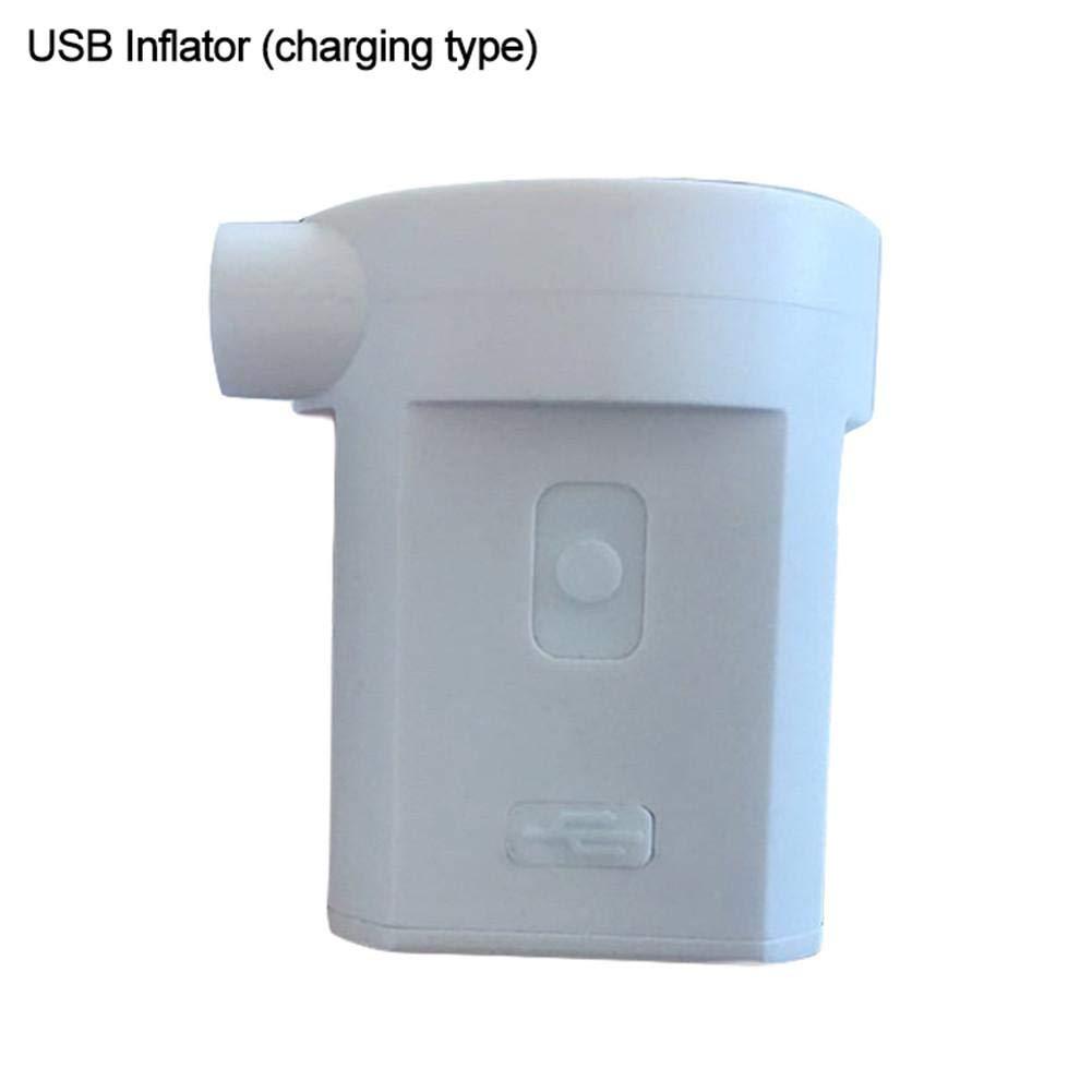 Maliyaw Pompa di Batteria al Litio Portatile 3600MAH per Pompa di Calore della Pompa di Aria Ricaricabile Piccola Pompa USB con Quattro ugelli gonfiabili