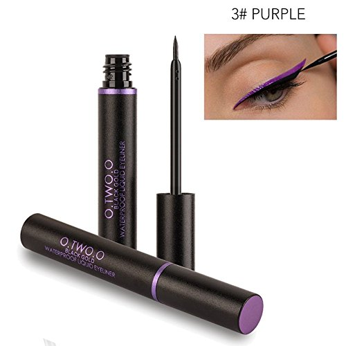 Liquid Eyeliner, Blue Eyeliner Pencil 2 Piece Waterproof Matte Super Slim Eyeliner Liquid Stay All Day Master Precise Make Up Tool - Yd Matte