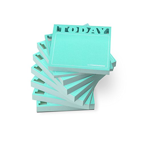 Knock Knock 8-Count Sticky Note Pads, Die Cut Today (12565-8)
