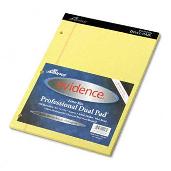 Ampad® Evidence® Dual Pads PAD,DUAL,LTR100SHT,CAN (Pack of15)