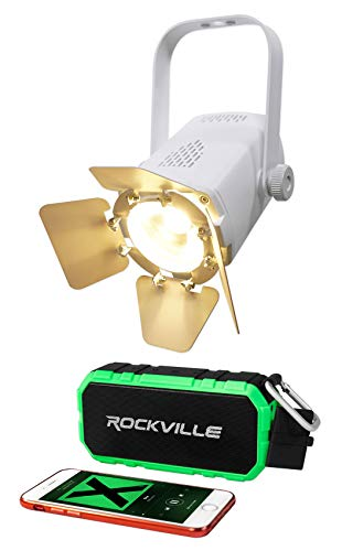 (Chauvet DJ EVE TF-20 WHT Fresnel Accent Par Can Light wDimmers+Bluetooth Speaker)