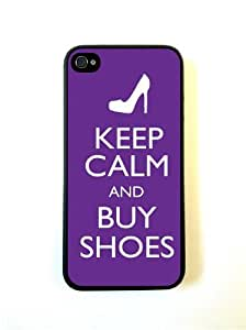 Keep Calm Buy Shoes Purple iphone 4 Cover Iphone 4s Case Fits iphone 4 Cover ...