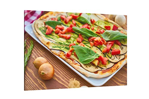Baked Eggplant with Sliced Tomatoes and Spinach - Canvas Wall Art Gallery Wrapped 26