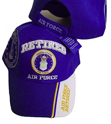 USA RETIRED AIR FORCE BASEBALL STYLE EMBROIDERED HAT ball cap vet us - Force Service Air Cap