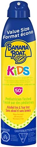 Banana Boat Kids Tear Free Sunscreen Clear Spray, Spf 50+, Broad Spectrum Protection, Value Size, 226G, 226 Gr