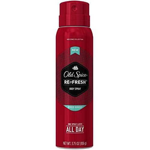 Old Spice Red Zone Re-Fresh Body Spray, Pure Sport 3.75 (Pack of 5)