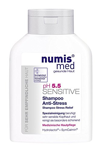 Soothing Shampoo for Sensitive Scalps Imported from Germany Low pH 5.5 Soap Free Paraben Free Vegan Moisturizes Irritated Scalps 200 ml by Numis Med