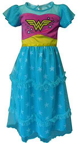 Justice League Big Girls' Wonder Woman Dressy Gown, Blue, X-Small -