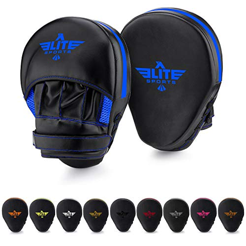 (Elite Sports Boxing Punch Focus Mitts - for MMA, Kickboxing, Muay Thai Sparring)