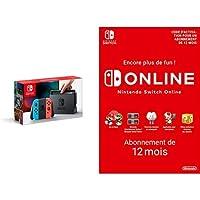 Console Nintendo Switch avec Joy-Con : rouge néon/bleu néon + Switch Online 12 Mois [Download Code]