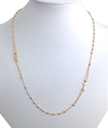 Choker / Rosaire de la Médaille Miraculeuse en Argent Massif 925 plaqué Or