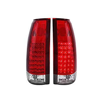 Image of Anzo USA 311004 Chevrolet Red/Clear LED Tail Light Assembly - (Sold in Pairs) Tail Light Assemblies