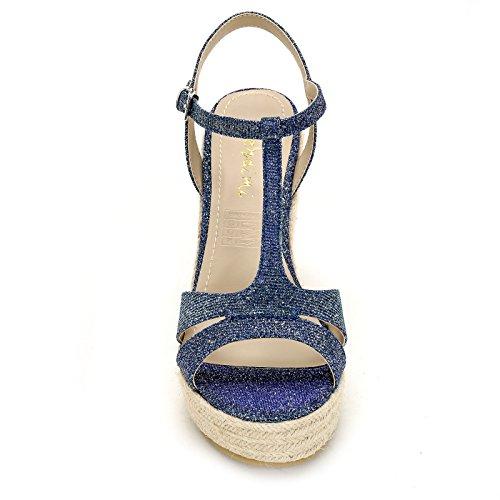 Donna Obsel Zeppe Blue amp;Scarpe Scarpe qUqxApaw