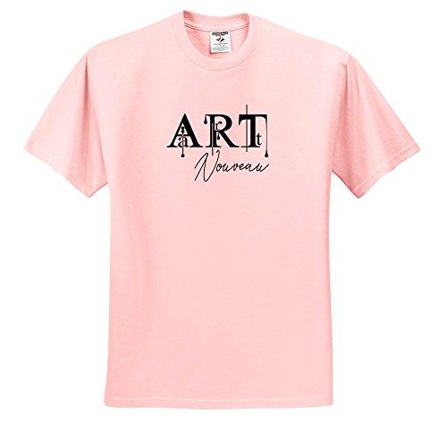 (Alexis Design - Art - Elegant Beautiful Black Text Art Nouveau on White Background - T-Shirts - Light Pink Infant Lap-Shoulder Tee (24M) (ts_286480_73))