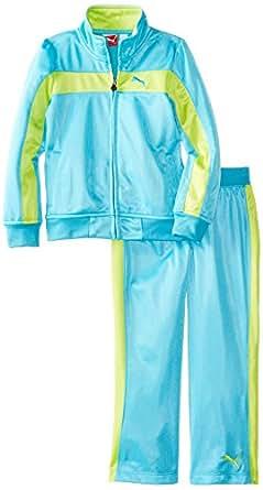 PUMA Little Girls' Inset Woven Short, Pro Blue, 2T