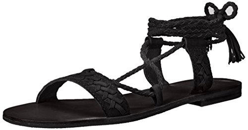 FRYE Women Ruth Whipstitch Ankle Gladiator Sandal Black