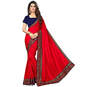 madhav textiles Women's Banarasi Silk Saree With Blouse Piece