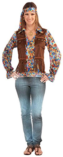 Groovy Hippie Costumes (Forum Novelties Women's Generation Hippie Groovy Costume Set, Multi, One Size)
