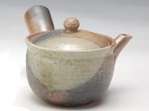 Shigaraki Pottery Midori Mamekake Kyusu Teapot G5-2709(Japan Import)