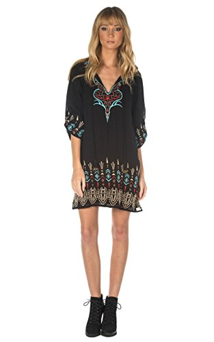 Tolani Collection Jet Black Tina Tunic / Dress (Small)