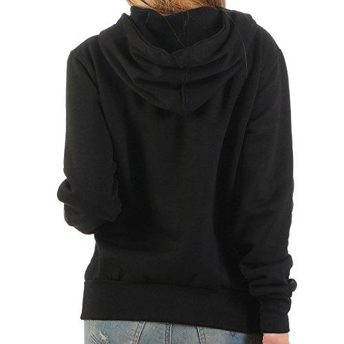 94Z25 Finchgirl Lady Hood F1021 Damen Pullover Hoody Kapuzen Schwarz Gr M