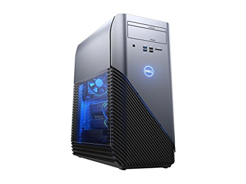 2018 Premium Dell Inspiron 5675 Gaming Desktop, AMD Ryzen 7 1700X Up to 3.8GHz 8GB DDR4 1 TB HDD DVD Burner 4GB AMD Radeon RX 570 MaxxAudio 802.11ac HDMI USB Type-C Windows 10- Recon Blue