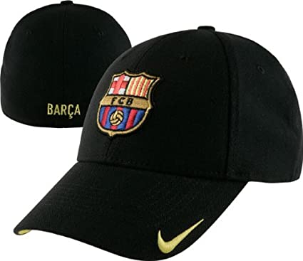 78348519f78 Image Unavailable. Image not available for. Color  Nike FC Barcelona Black  Swoosh Stretch Fit Hat