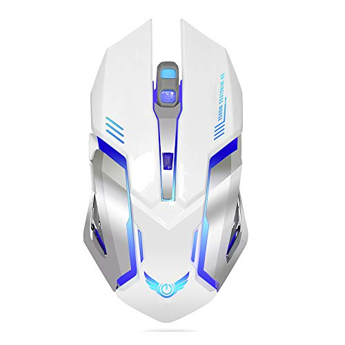 - ZYLFN Wireless Mouse, Portable 2.4GHz Mobile Optical Mice with USB Receiver,Hyper-Fast Scrolling, Rechargeable,White