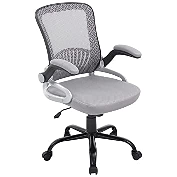 Poly and Bark Hargrove Office Chair in Grey
